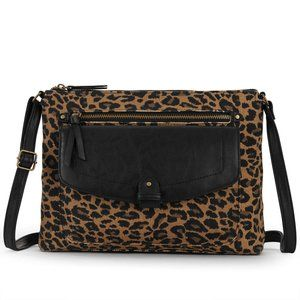 Bronwen Leopard Animal Print Crossbody Bag NWT